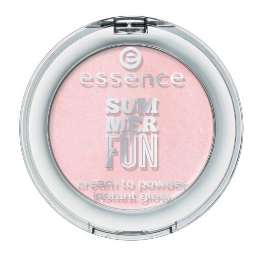 essence summer fun cream to powder instant glow 01 | סומק לזהור מיידי במרקם קרם ההופך לפודרה | 14 ש״ח | צילום: יח״צ חו״ל