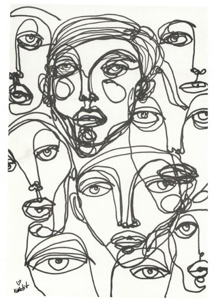 דמות שנולדה מתוך שרבוטים והפכה לפאשניסטה מבוקשת | מתוך התערוכה של שירה ברזילי