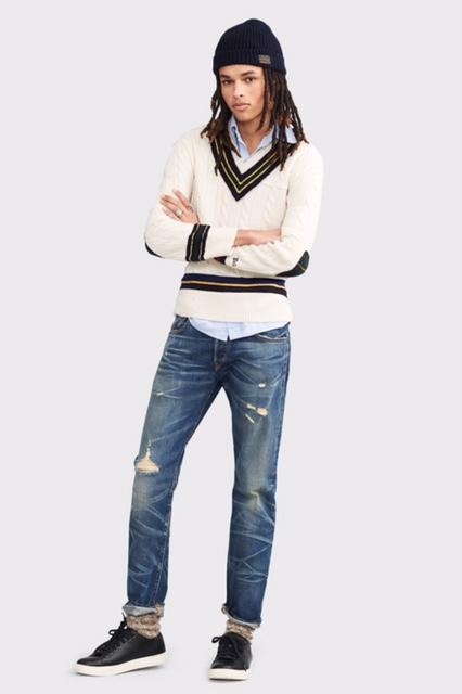 ראלף לורן קולקציית סתיו חורף 2017-2018 סוודר 1650 גינס 649 חולצה 549 צילום יחצ חול