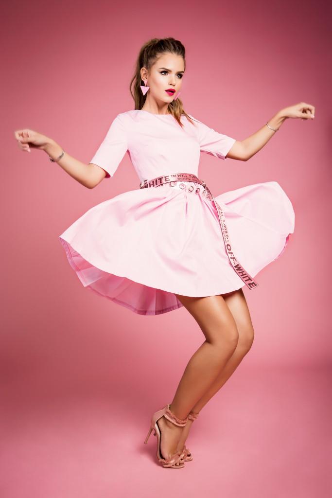 שמלה+חגורות Ink | עגילים+ צמיד la Flaca Loca | נעליים טופשופ