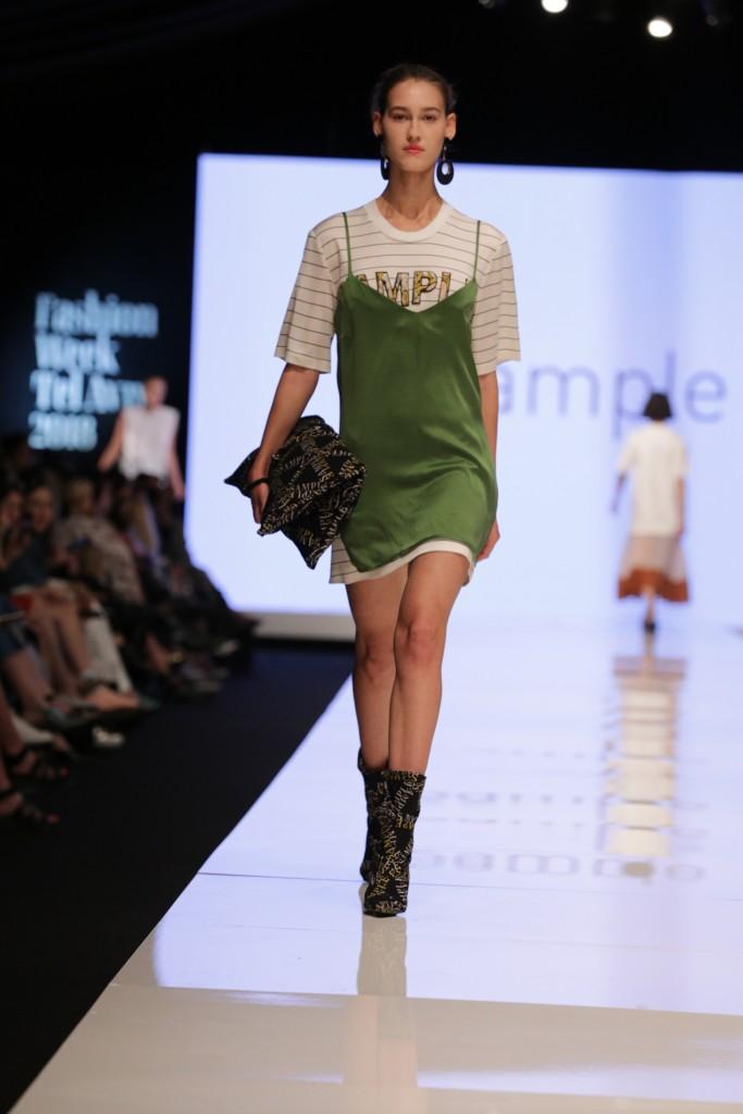 נופר מכלוף ועינב זיני למותג sample | שבוע האופנה תל אביב 2018 | צילום: אבי ולדמן