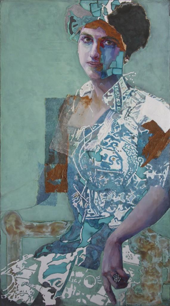 Piet Van Den Boog / Girl with the Pearl Earring II /  2018 / 180 x 100 cm