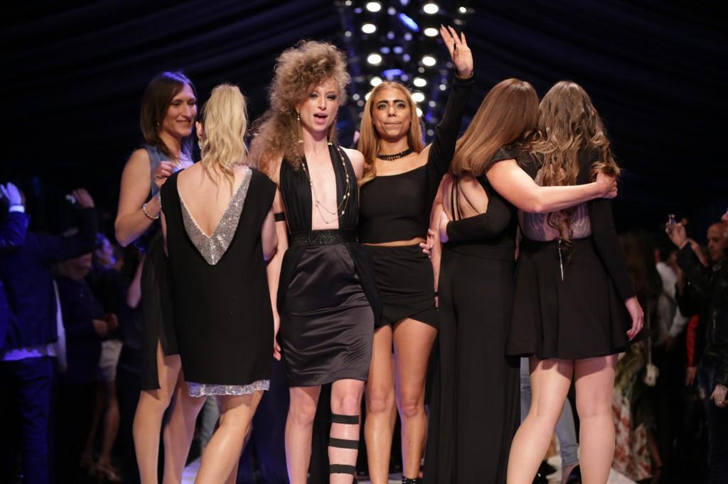 הדוגמנית יוליה פלוטקין והמעצבת שונטל שבוע האופנה תל אביב 2018 | צילום: אבי ולדמן