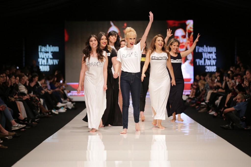 נשות סדרת הטלוויזיה הרמון גאות בקולקציה   שבוע האופנה תל אביב 2018   צלום: אבי ולדמן