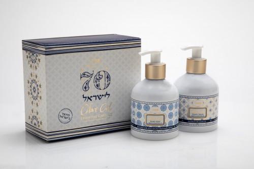 SABON קולקציית 70 שנה לישראל כולל קרם ידיים וסבון נוזלי עלות 99 שח במקום 146שח צילום?? ??