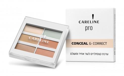 קרליין CONCEAL & CORRECT ערכת קונסילרים לעור אחיד ומושלם מחיר 69.90 שח צילום מוטי פישביין (Custom) (1)