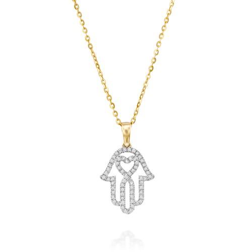תליון חמסה עם לב זהב לבן או צהוב של סנדרה רינגלר לרשת אימפרס ב- 1190 שח במקום- 2618 שח צילום יחצ (2)