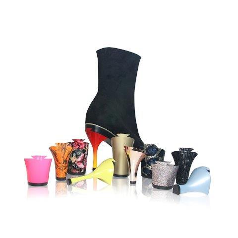"""המותג TANYA ליריד שופוני נעליים עם עקבים מתחלפים / צילום יח""""צ"""