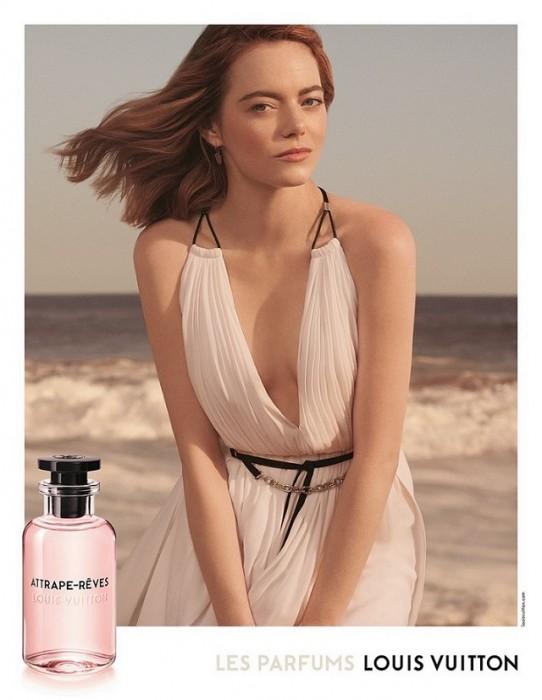 קמפיין הבושם של לואי ויטון עם אמה סטון צילום קרייג מק'דין