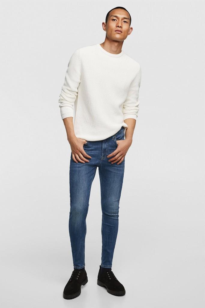 בקטגוריית הג'ינסים ניתן למצוא מגוון גזרות החל מסופר סקיני ועד גזרות ישרות. שתי גזרות בולטות לעונה הינם גזרת הקראוט, המחמיאה לגבר, וקיימת במגוון רחב של צבעים, בשילוב קרעים או ללא.