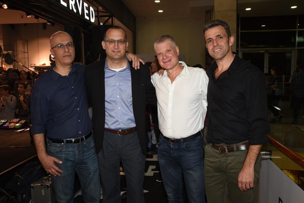 מימין לשמאל- אילן ג'רבי, ארנון תורן, רן קוניק, עמיר משה / צילום: אלעד גוטמן