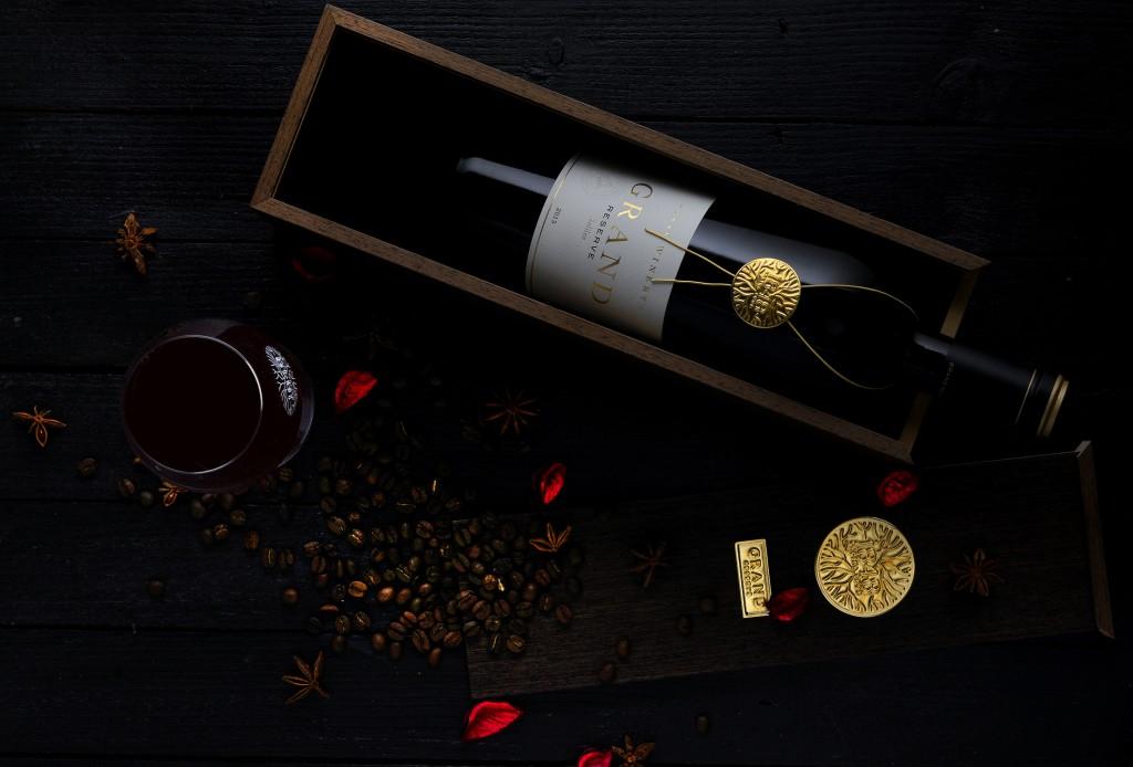 Grand Reserve 1848 בקבוק ומארז / צילום: אייל קרן