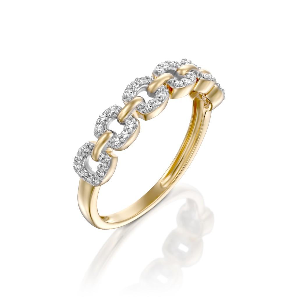 """טבעת ברית עולמים זהב צהוב בעיצובה של סנדרה רינגלר לרשת אימפרס / צילום: יח""""צ חו""""ל"""