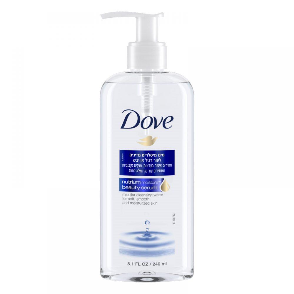 DOVE מים מיסלריים לעור רגיל או יבש   מחיר: 29.9-39.9 ש''ח  צילום יח''צ